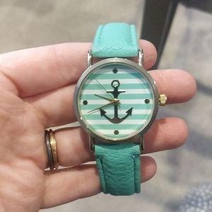 Mint Green anchor watch